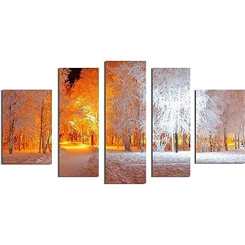 Amazon.com: Startonight Glass Wall Art Acrylic Decor Set Soft Light ...