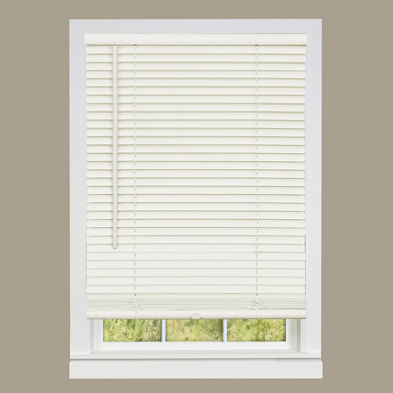 "Achim Home Furnishings DSG229AL06 Deluxe Sundown G2 Cordless Blinds, 29"" x 64"", Alabaster"