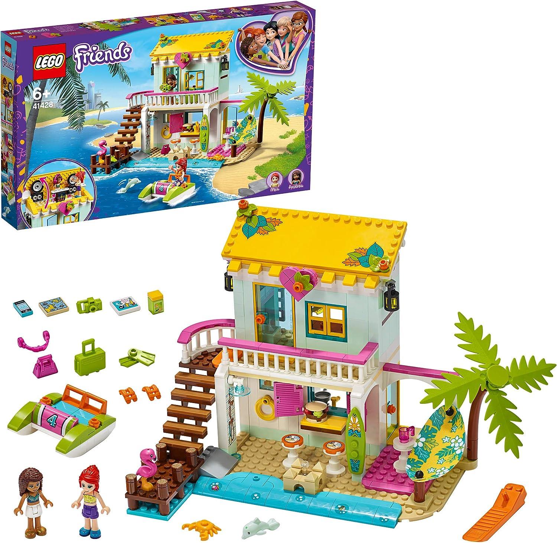 LEGO Friends Heartlake City Friends PlayaCasa de Mini Muñecas Set de Juego conAndreayMia,Serie SummerHoliday, multicolor (Lego ES 41428)