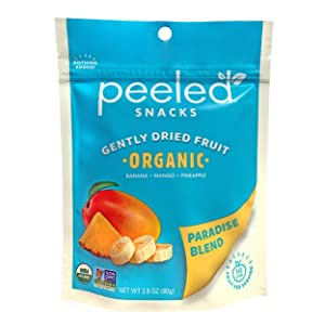 Peeled Snacks Organic Dried Fruit, Paradise Blend, 2.8 Ounce