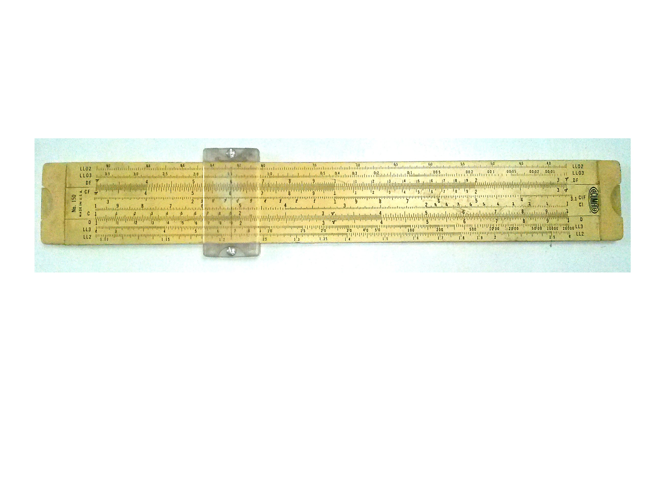 Acu-Math No. 150 Engraved Slide Rule Made in USA