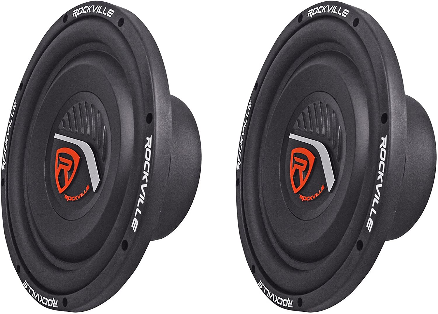 "(2) Rockville W10T4-S2 10"" Shallow Mount 2400 Watts 2-Ohm Car Audio Subwoofers 81p0eIPwytLSL1500_"