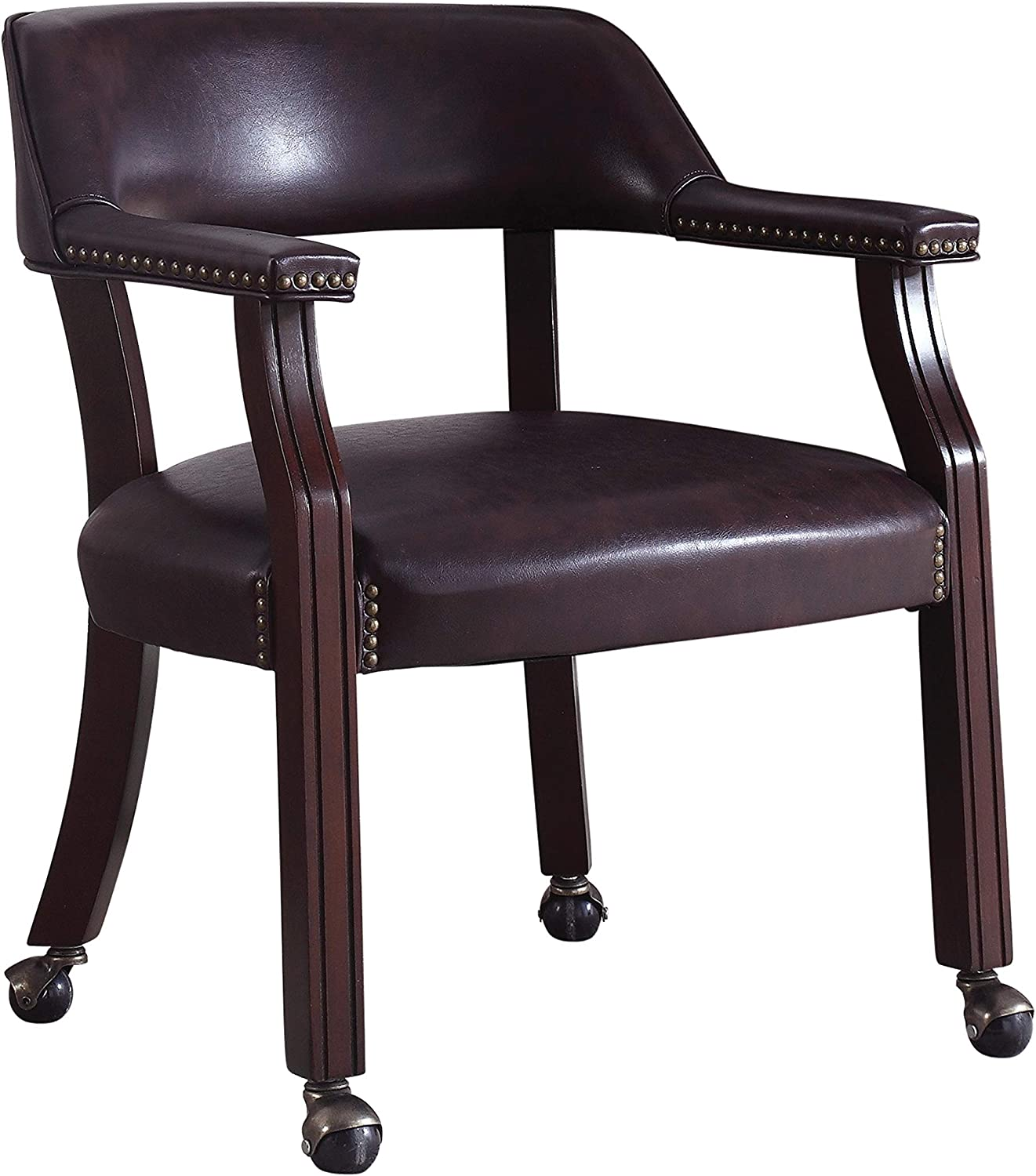 Coaster 417BRN-CO Furniture Leatherette Office Chair, Chestnut