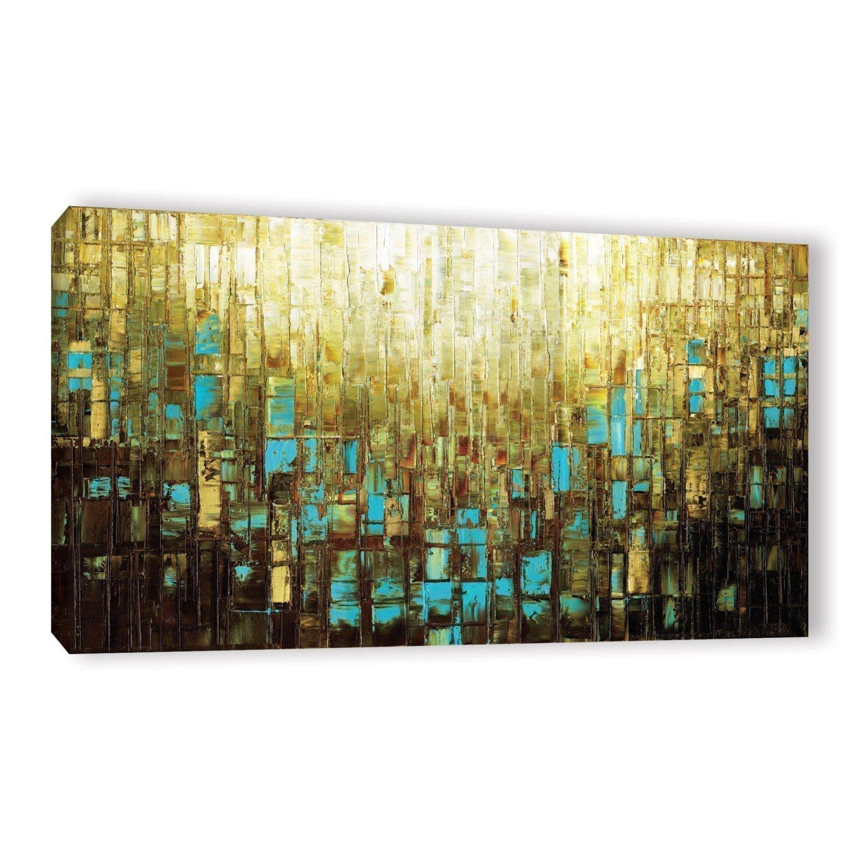 Amazon.com: Abstract Art PRINT Wall Art Mid Century Modern Brown ...