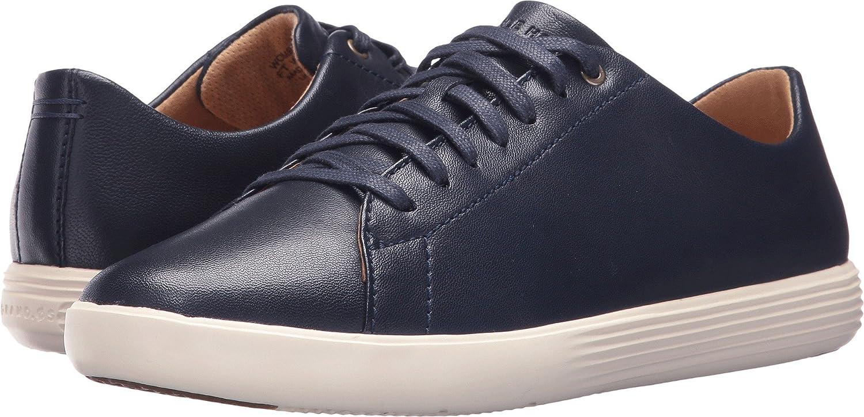 Cole Haan Women's Grand Crosscourt Ii Sneaker B072N4GQ33 8.5 B(M) US|Marine Blue Leather/Ivory