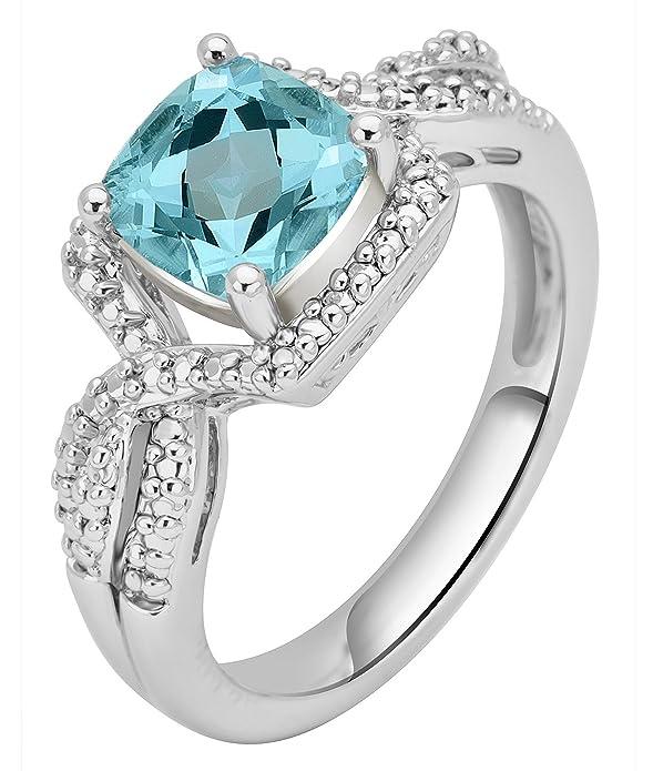 c678101e8 Amazon.com: Topaz and Diamond Accent Ensemble 3 Piece Jewelry Set: Jewelry