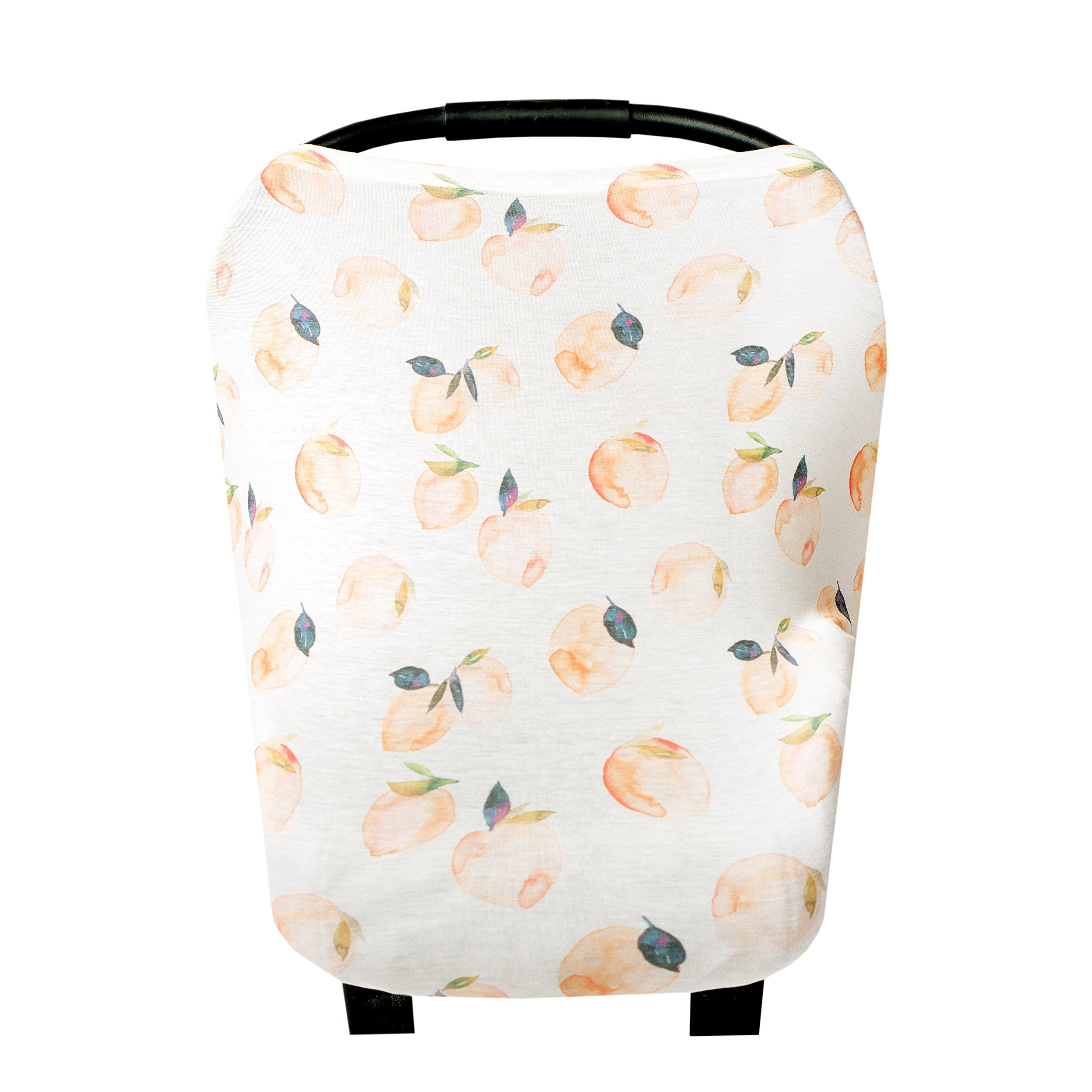 Baby Car Seat Cover Canopy and Nursing Cover Multi-Use Stretchy 5 in 1 Gift ''Caroline'' by Copper Pearl