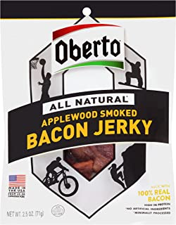 product image for Oberto All Natural Applewood Smoked Bacon Jerky, 2.5-Ounce Bag , 8-Count