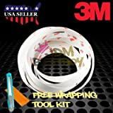 "FREE TOOL KIT 180"" Genuine 3M Clear Scotchgard Car Paint Protector Door Edge Guard Scratch Sealing Trim (0.6"" Width Wide) 15FT"