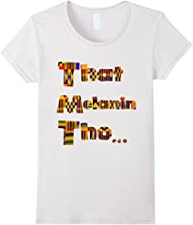 That Melanin Tho T-Shirt - African Print Kente Inspired