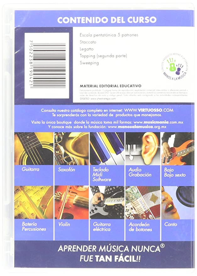 Amazon.com: Virtuosso Electric Guitar Method Vol.2 (Curso De Guitarra Eléctrica Vol.2) SPANISH ONLY: Musical Instruments