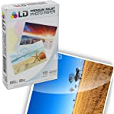 LD © Premium Glossy Inkjet Photo Paper (4X6) 100 pack - Resin Coated