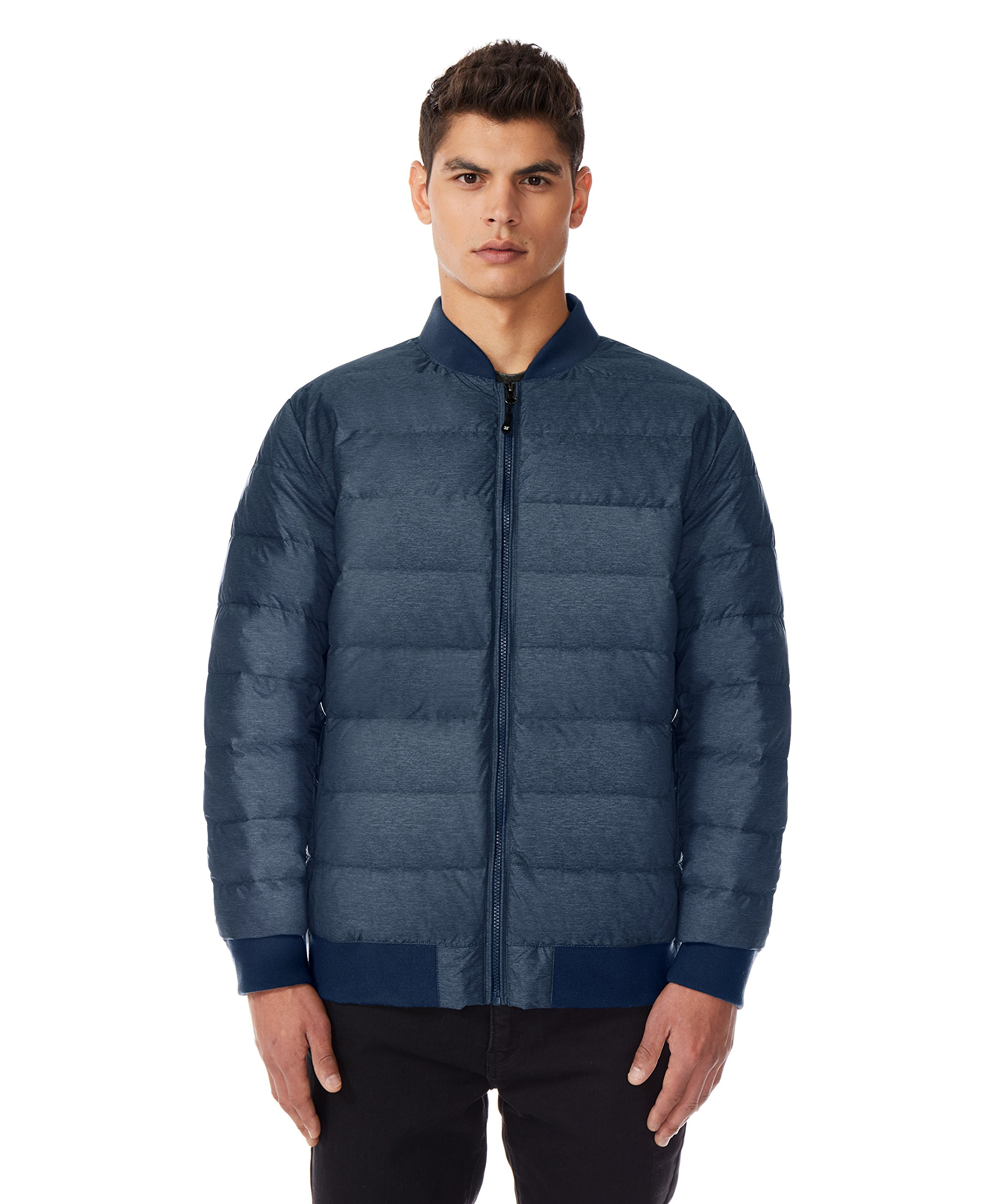 32 DEGREES Mens Light Down Packable Bomber Jacket -Denim Blue-XL by 32 DEGREES
