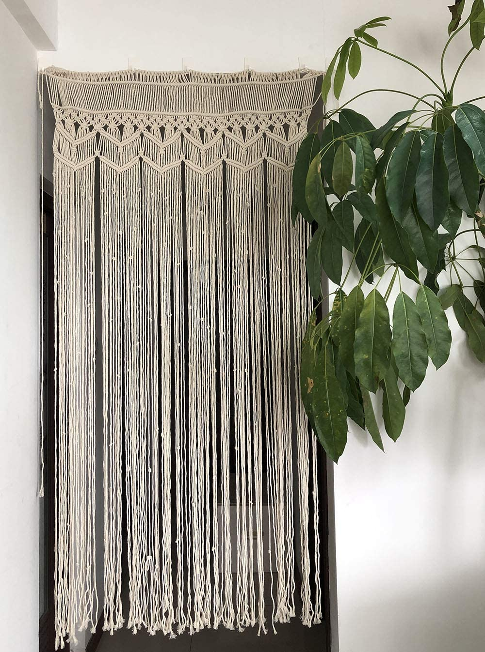 "Macrame Curtain Panel for Doorway Wedding, Handmade Woven Wall Hanging Tapestry, Birthday Party Backdrop, 37.5"" L x 77"" W"