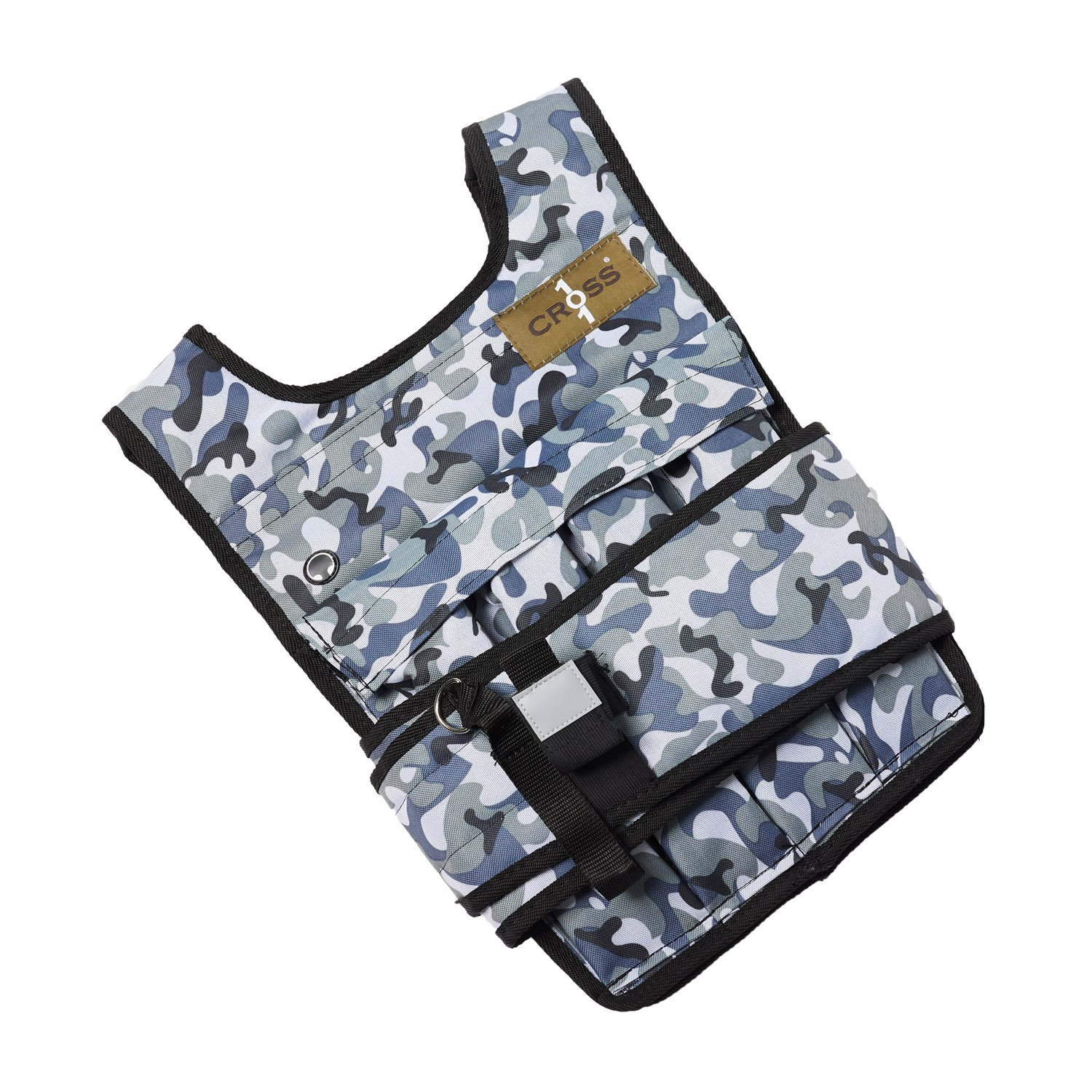 CROSS101 Arctic Camouflage Adjustable Weighted Vest (20lbs)