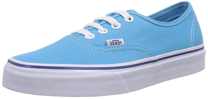 Vans Damen Authentic Sneakers Blau (Cyan Blue/True Fry)