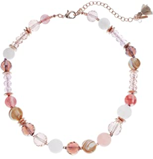 Lonna & Lilly Rose Gold-Tone Multi-Beaded Collar Necklace