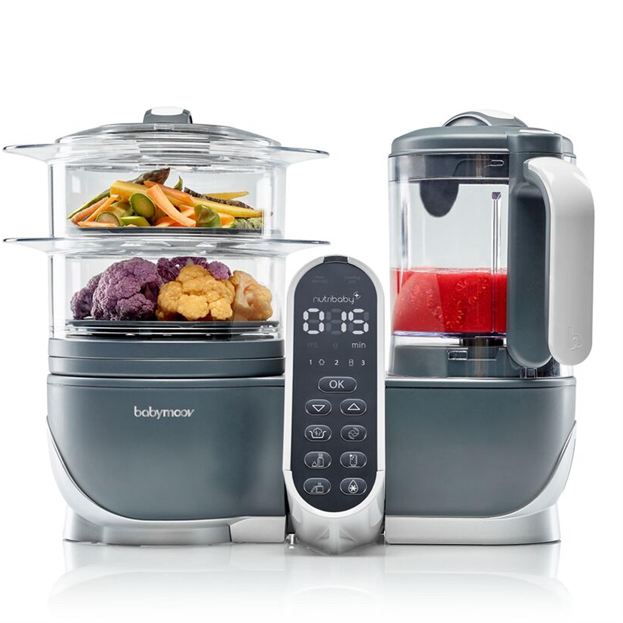 Duo Meal Station Food Maker | 5 in 1 Food Processor with Steam Cooker, Multi-Speed Blender, Baby Purees, Warmer, Defroster, Sterilizer (2019 NEW VERSION) by Babymoov (Image #1)