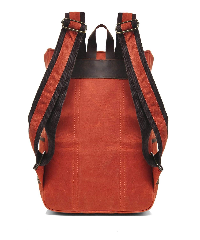 Gandys Hombres mochila de bali encerada Naranja Oscuro única Talla: Amazon.es: Ropa y accesorios