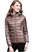CHERRY CHICK Women's Packable Ultralight Puffer Down Hooded Jacket