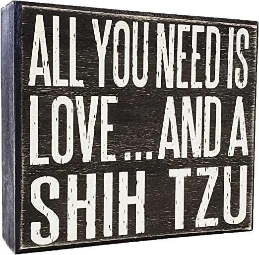 Amazon.com: JennyGems All You Need is Love and a Shih Tzu ...