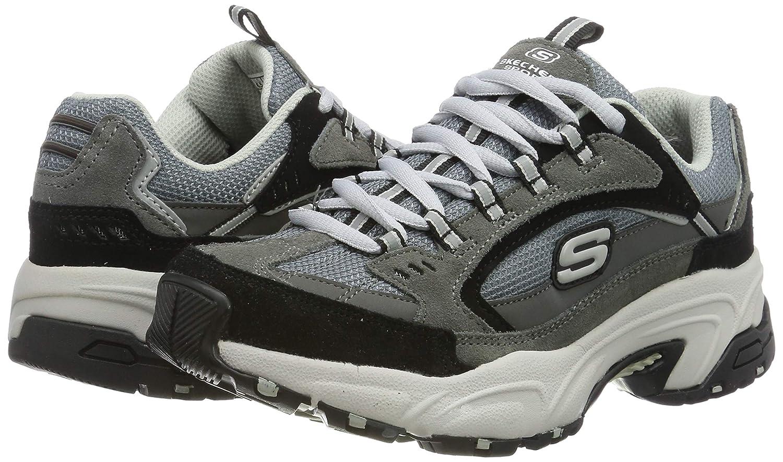 Skechers Stamina, Zapatillas para Mujer, Olive Nubuck/Red & White Trim Ccbk, 4.5 EU: Amazon.es: Zapatos y complementos