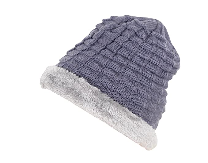 e39af306859 Devil Boy s and Girl s Wool Cotton Warm Winter Hat Knit Cap (Grey ...