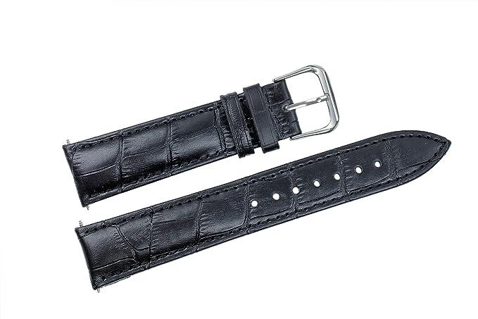Larges Montres Pour Peau Grandes De 28mm Grain Supérieur Rembourrées Noir Les En Bracelets Cuir Bandes Véritable Veau Montre XZikuOP