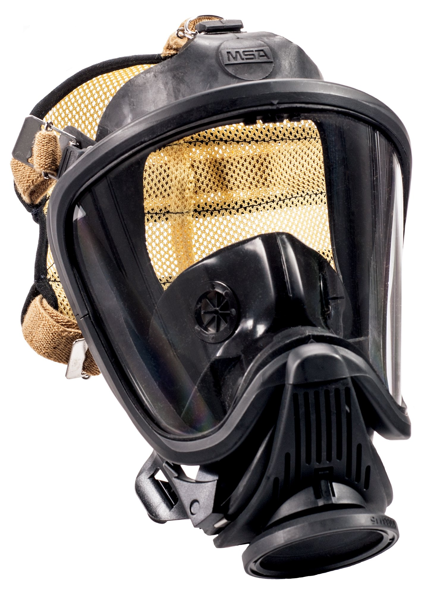 MSA Safety 10084828 Ultra Elite M7 Facepiece with Push-to-Connect Style Regulator, Speed-ON Head Harness, Nosecup and Fire Hawk M7 HUD Bracket, Large