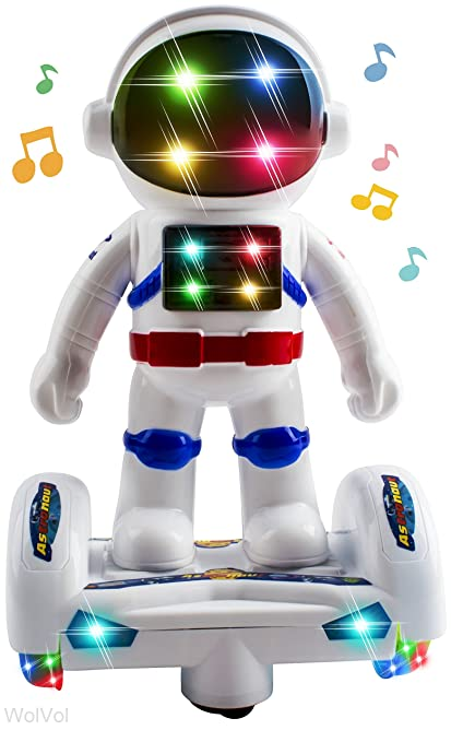 Amazoncom WolVol Space Astronaut Robot Toy With Stunning 3D Lights