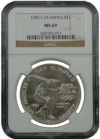 Gymnast 1995-D US Atlanta Olympic Commemorative BU Silver Dollar NGC MS69