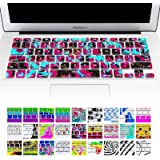 """Allytech Keyboard Cover Silicone Skin for MacBook Pro 13"""" 15"""" 17"""" (with or w/out Retina Display) iMac and MacBook Air 13"""" (A Riot Of Colour)"""