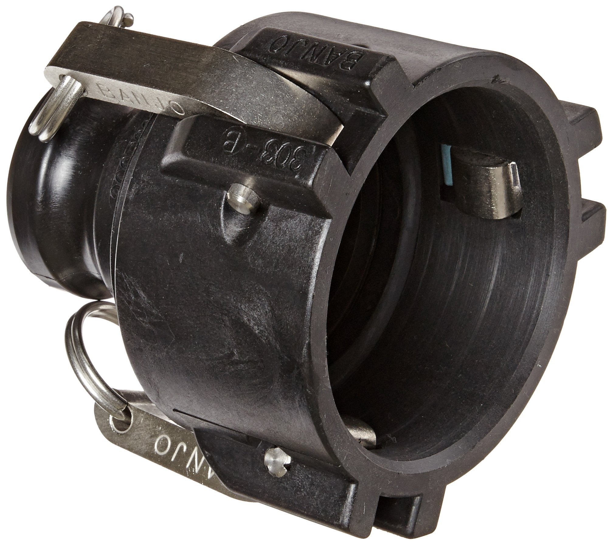 Banjo 303B200A Polypropylene Cam & Groove Fitting, 3 x 2'' Female Coupler x Adapter by Banjo Corp (Image #1)