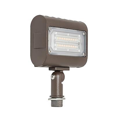 Westgate Lighting LED Flood Light with Knuckle Mount - Security Floodlight Fixture for Outdoor Yard Landscape Garden Lights - Safety Floodlights - UL Listed (15 Watt 5000K Cool White)
