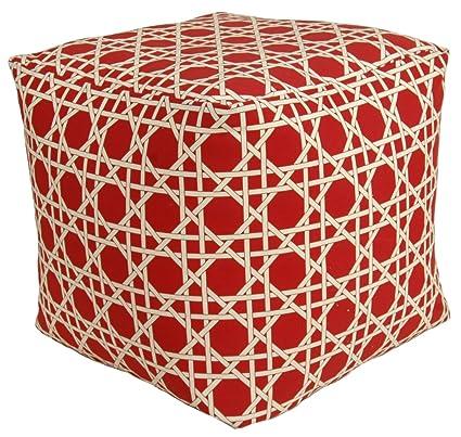 Fine Codson Park 81155 Kane Red Outdoor Indoor Pouf 18 Inch Creativecarmelina Interior Chair Design Creativecarmelinacom