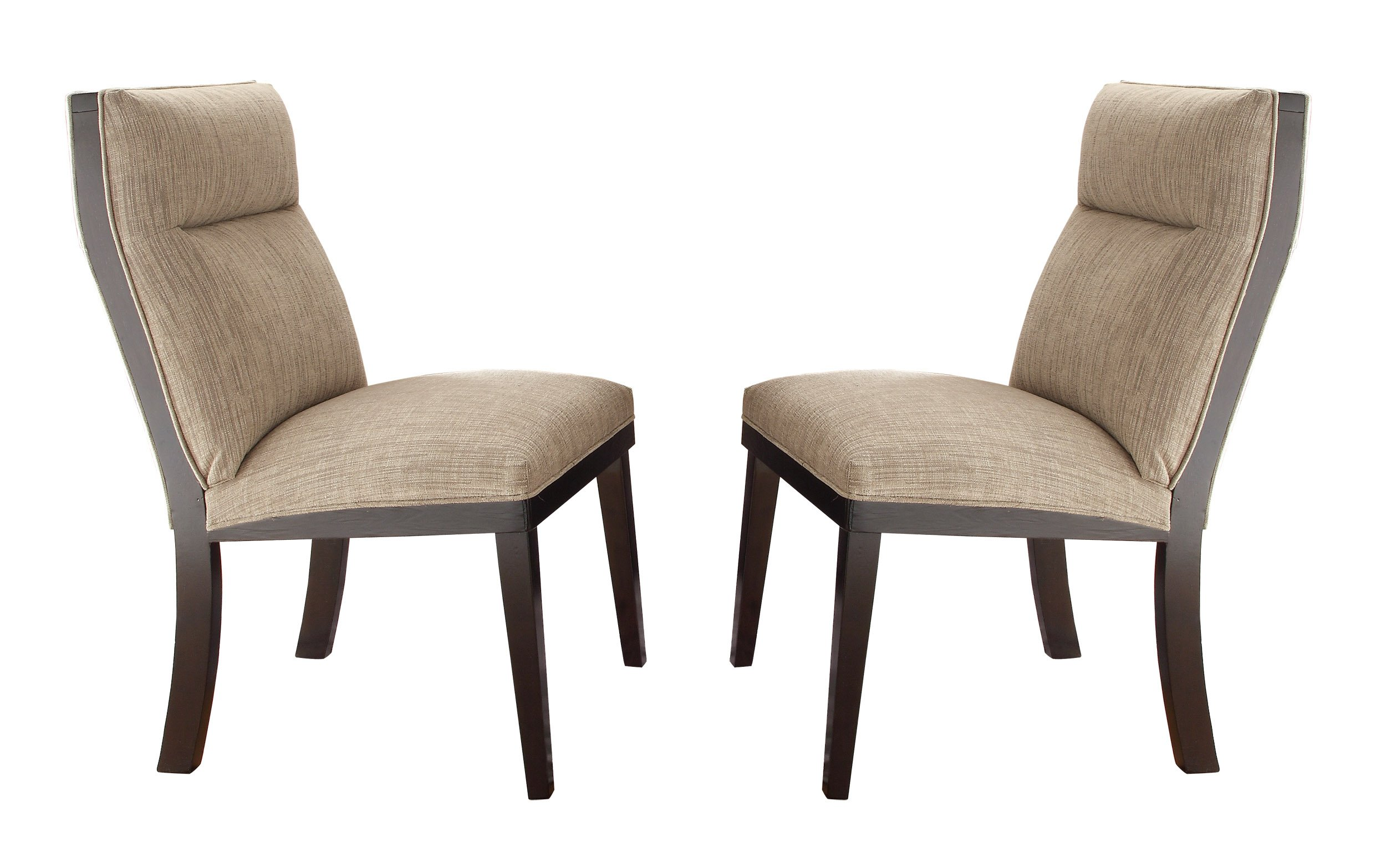 Homelegance Tanager Contemporary Dining Chairs with Padded Seat and Back (Set of 2), Espresso