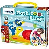 Miniland - Math Color Rings, juego educativo, multicolor (31796)