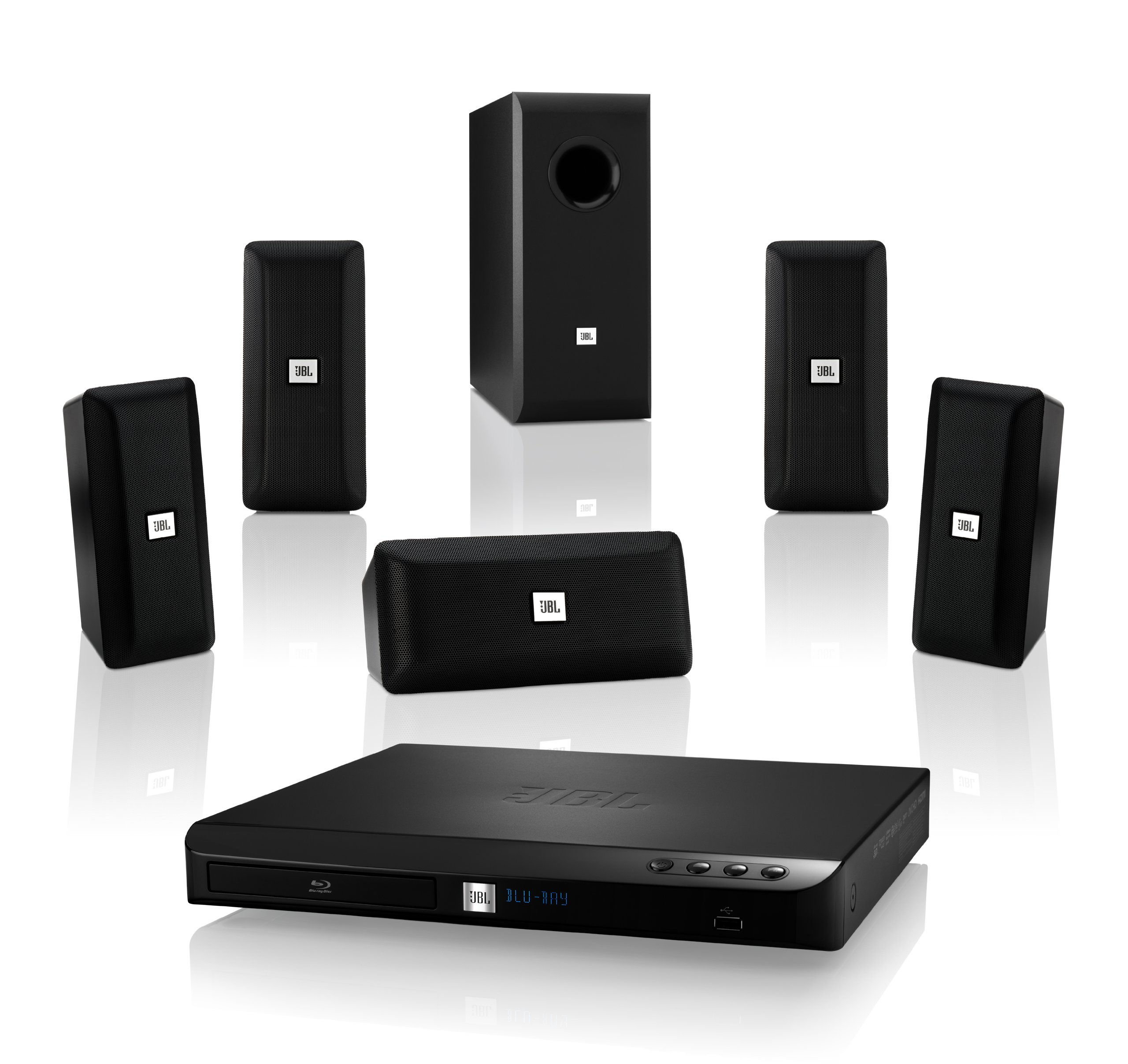 JBL Cinema BD 100 Complete 5.1-Channel 3D Blu-ray Disc Integrated Home Theater System by JBL