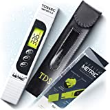 TDS Meter Digital Water Tester - 3 in 1 ppm EC and Temperature Test Pen | Easy to Use Water Purity Tester | Ideal for Testing