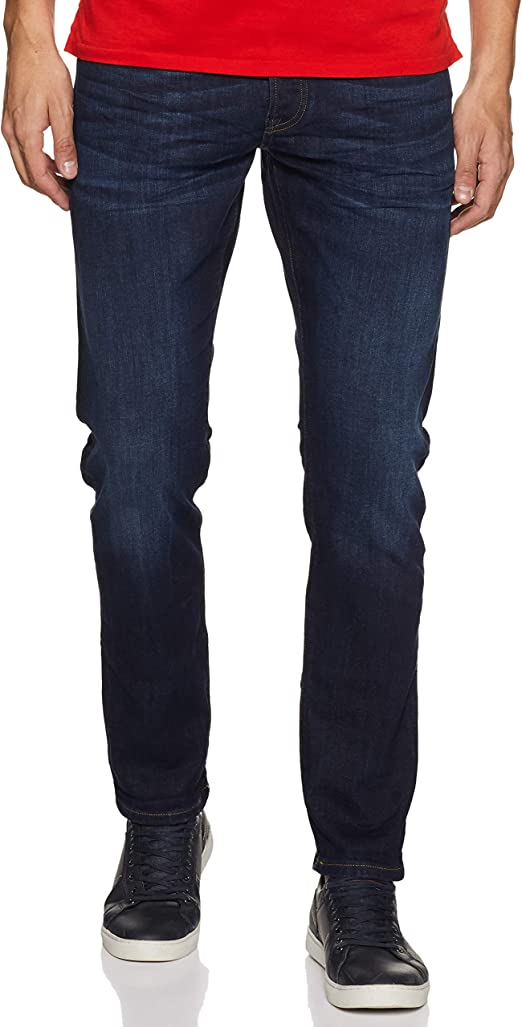 TALLA 33W / 36L. Scotch & Soda Nos Ralston-Beaten Back Vaqueros Straight para Hombre