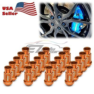 EZAUTOWRAP Orange 20 PCS M12x1.25 Lug Nuts Short 50mm Tuner Open End Aluminum Wheels Rims Cap WN01: Automotive