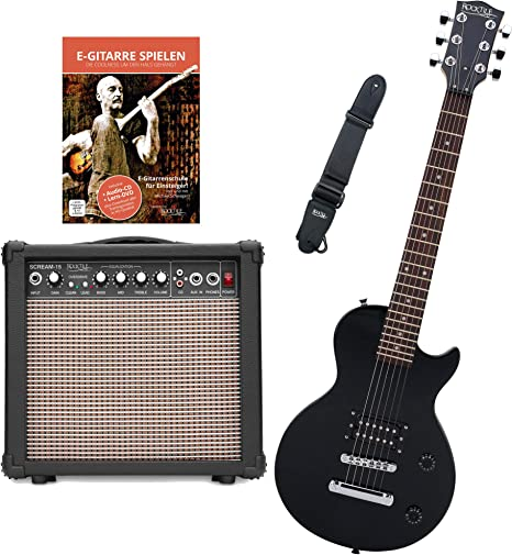 Rocktile L-50B Junior escala 3/4 guitarra eléctrica set con ...
