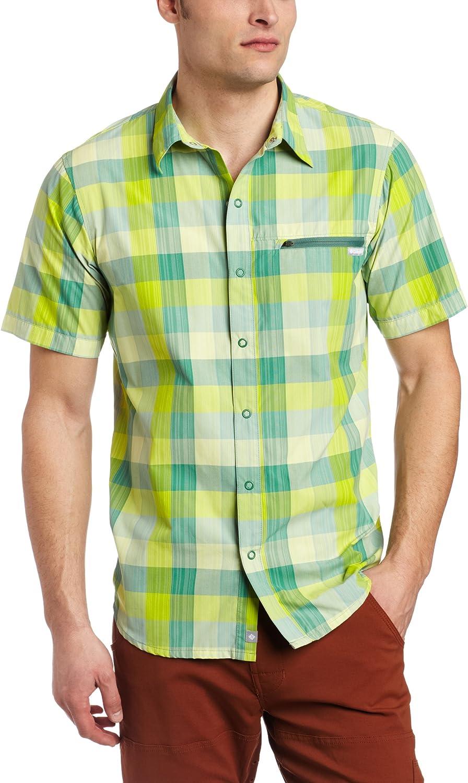 Columbia Men's Cool Creek 1 year OFFicial warranty Plaid Shirt Sleeve Short