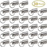 30Pcs Key Fob Hardware Keychain Wristlet with Split Ring, 1.25 Inch