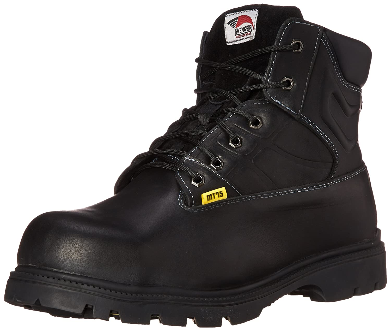 Avenger Safety Footwear メンズ B0041OSPG2 17 C/D US|ブラック ブラック 17 C/D US