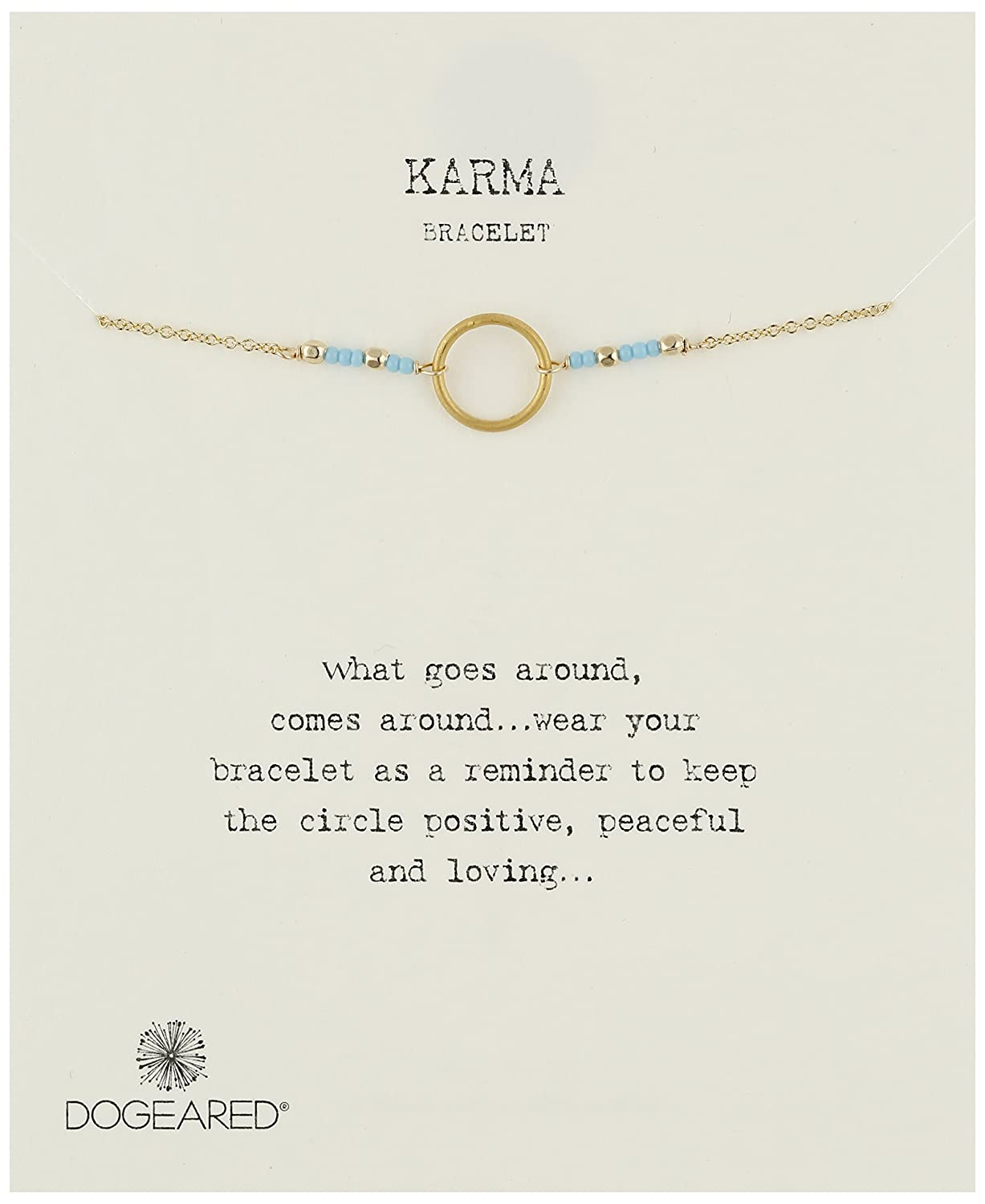 Dogeared Karma with Tiny Turquoise Seed Bead Bracelet
