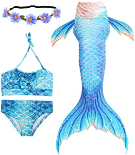 Mother & Kids 3pcs/set 8 Colors Girls Kids Mermaid Tails Fancy Children Mermaid Tail Costome Swimmable Bikini Set Bathing Swimsuit Cosplay Easy To Repair
