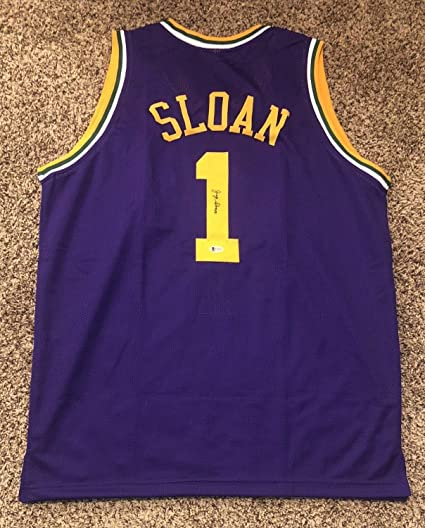 uk availability d626f 07a30 Jerry Sloan Autographed Signed Utah Jazz Jersey Beckett ...
