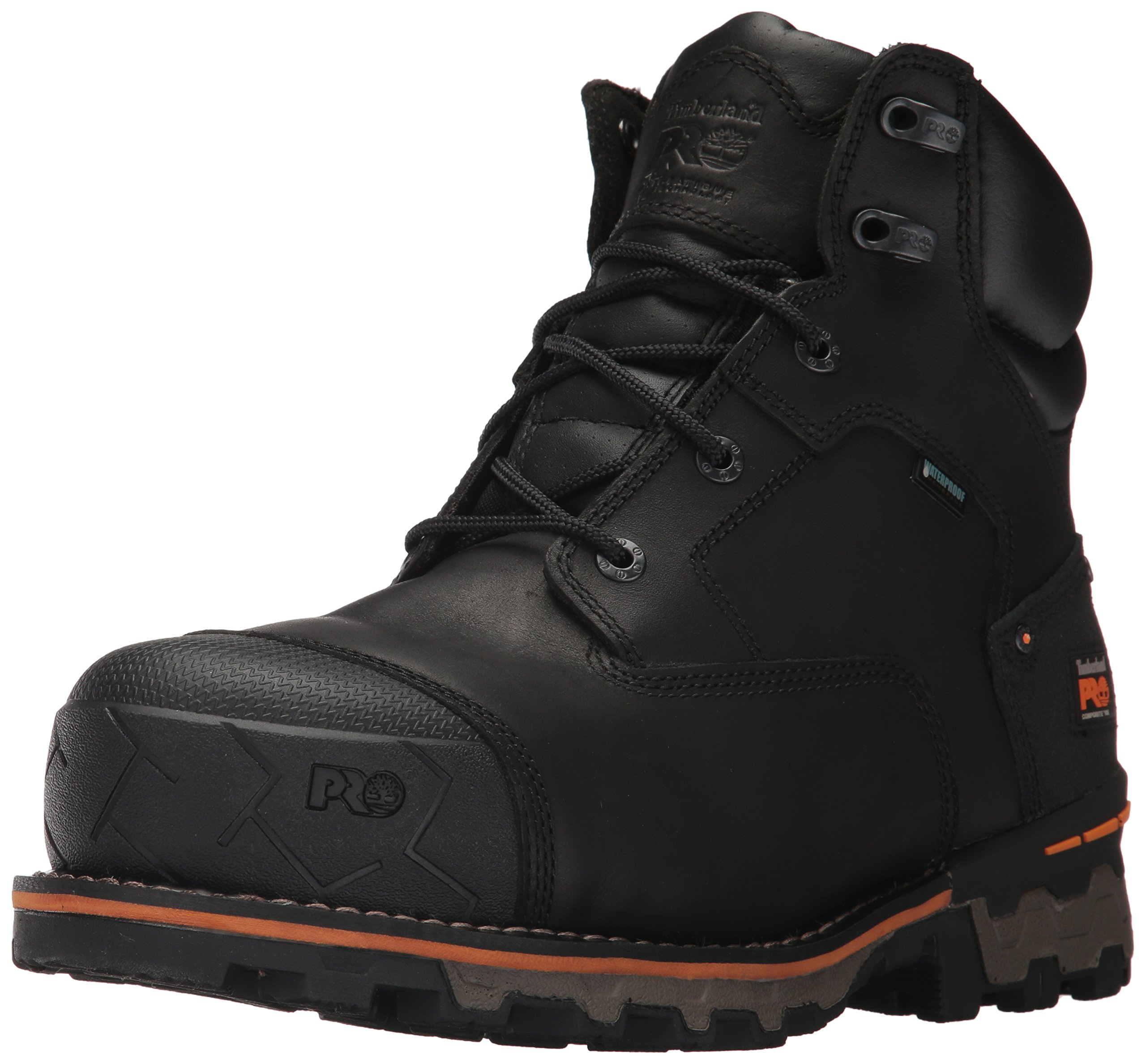 Timberland PRO Men's Boondock 6'' Composite Toe Waterproof Industrial & Construction Shoe, Black Full Grain Leather, 12 M US by Timberland PRO