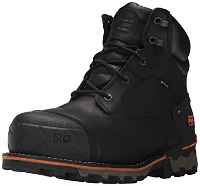 0312bd03d309 Timberland PRO Men s Boondock 6 quot  Composite Toe Waterproof Industrial    Construction Shoe Black Full Grain